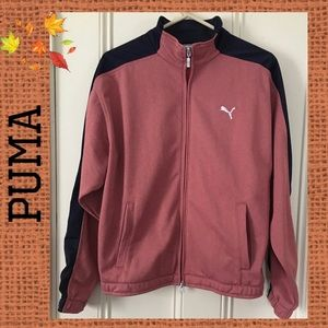 Puma Track Jacket, Orange/Blue